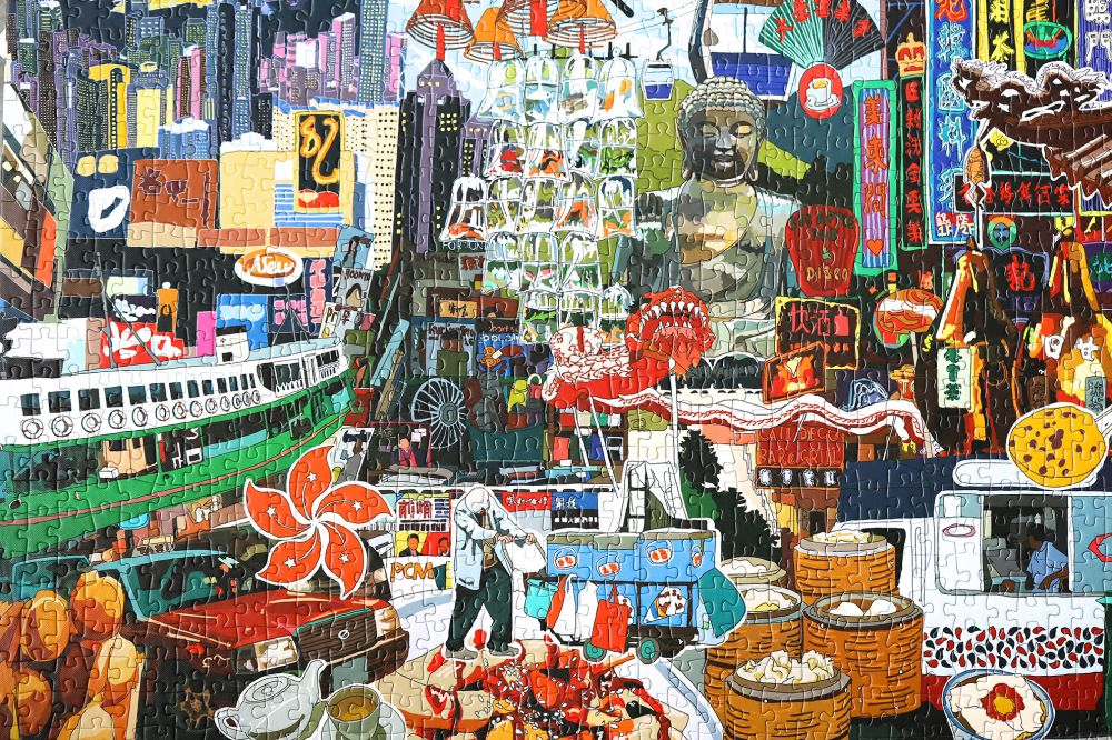 Double sided Puzzle 1000pcs - Celebrating Hong Kong