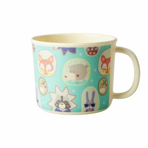 Baby Melamine Cup with Boys Happy Camper Print