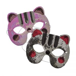 Kids Sequined Cat Mask